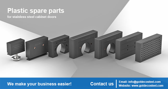 Stainless steel bathroom cabinet parts