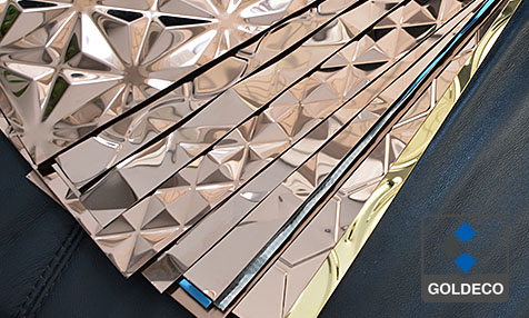Brushed Colored Stamped Stainless Steel Sheet