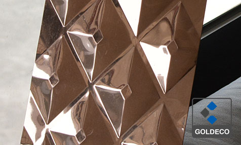 Rose Gold Stamped Stainless Steel Sheet