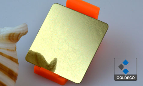 Gold Mirror Vibrated Stainless Steel Sheet