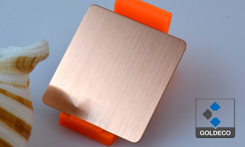 Copper Hairline Stainless Steel Sheet with Anti-FingerPrint