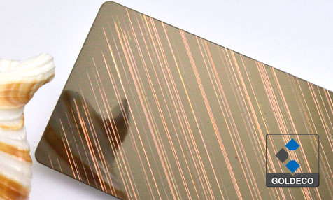 Antique Copper Stainless Steel Sheet with Tilt lines