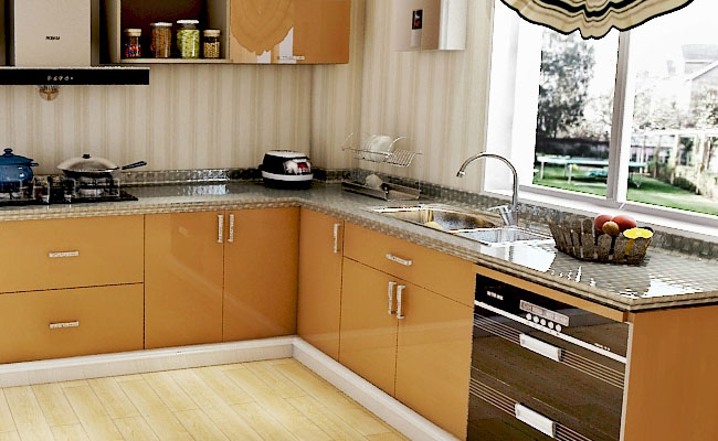 PVC Laminated SS for Modern Kitchen