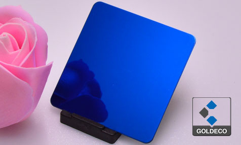 Colored Ti Deep Blue Stainless Steel Sheet Suppliers