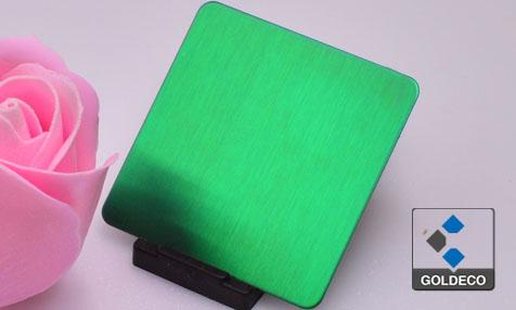 Colored HL Ti Green Stainless Steel Sheet Suppliers