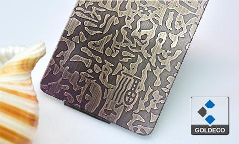 Custom Make Etched Stainless Steel Sheet