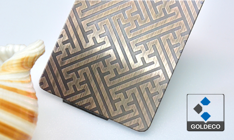 China Etched Stainless Steel Sheet