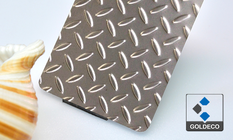 Checked Stainless Steel Plate
