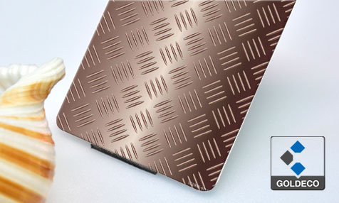 Colored Checked Stainless Steel Sheet