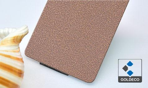 Wine Color Embossed Stainless Steel Sheet