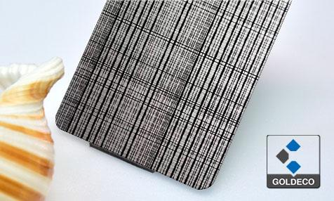 New design - Woven Etching Stainless Steel Sheet