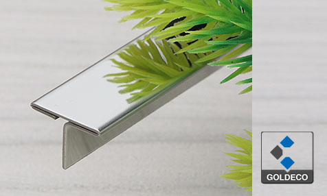 China Stainless Steel T Shaped Mirror Trim