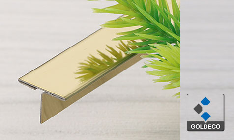 China Mirror Gold Stainless Steel T Shape Trim