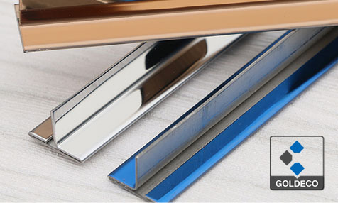 China Mirror Blue Stainless Steel T Shape Trim
