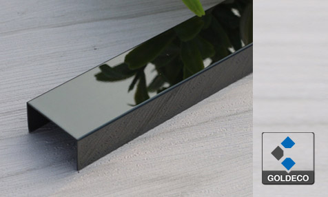 China Black Mirror Stainless Steel U Channel