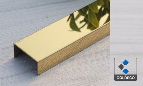 China Gold Mirror Stainless Steel U Channel