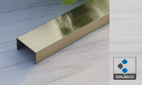 China Gold Brushed Stainless Steel U Channel