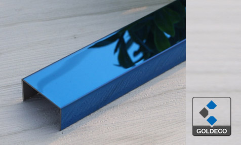 China Blue 8K Mirror Stainless Steel U Channel
