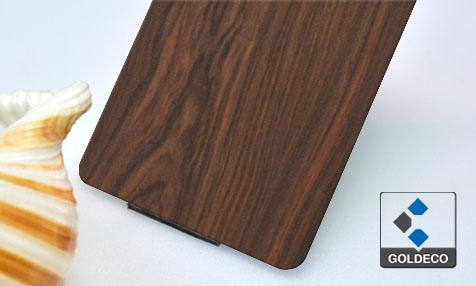 Wood Grain Laminated Stainless Steel Sheet