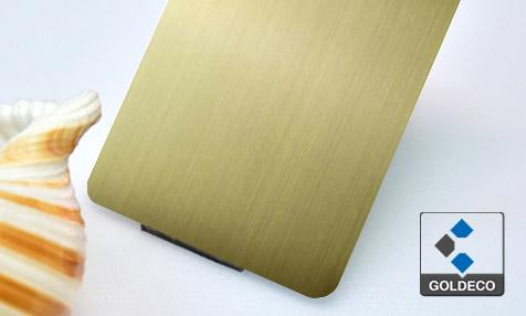 Antique Brass Hairline Stainless Steel Sheet