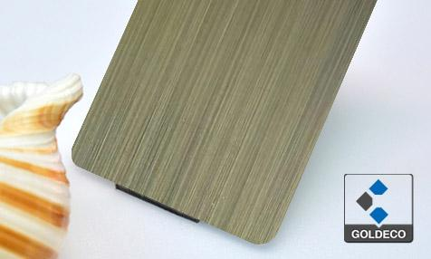 Antique Bronze Hairline Stainless Steel Sheet