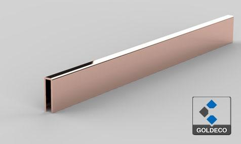 Decorative Rose Gold Stainless Steel Tile Trims