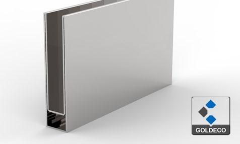 Chrome Stainless Steel U Channel For Glass