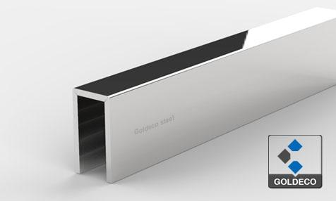 Polished Stainless Steel U Channel For Glass