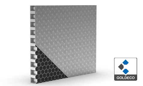 Woven Embossed Stainless Steel Honeycomb Panel