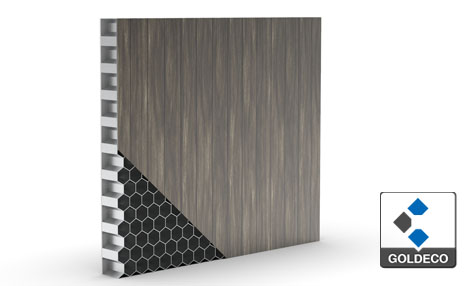Stainless Steel Honeycomb Panel with Wooden Pattern