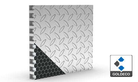 Checker Stainless Steel Honeycomb Panel