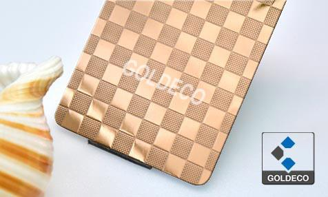 Colored Embossed Stainless Steel Sheet
