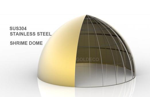 New Design of Stainless Steel Dome for Shrine Building